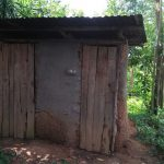 The Water Project: Emachembe Community A -  Latrine With Wood Sides