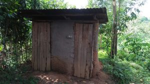 The Water Project:  Latrine With Wood Sides