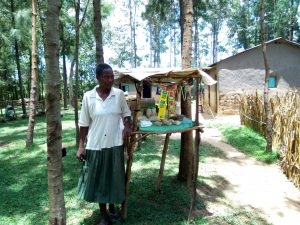 The Water Project:  Mrs Mary Stands By Her Local Shop