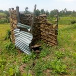 The Water Project: Isembe Community, Amwayi Spring -  A Latrine In An Open Field With A Dangerous Floor