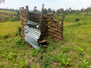 The Water Project:  A Latrine In An Open Field With A Dangerous Floor