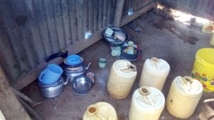 The Water Project:  Water Containers For Storing Water In A Households Kitchen