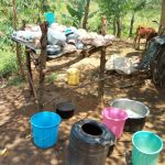The Water Project: Emaka Community -  A Dishrack And Water Containers At The Households Kitchen