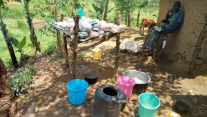 The Water Project:  A Dishrack And Water Containers At The Households Kitchen