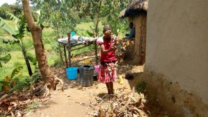 The Water Project:  A Girl Make Firewood At Her Home