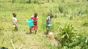 The Water Project:  Children Fetch Water At The Spring