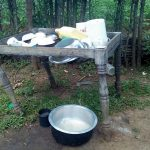 The Water Project: Lunyi Community, Fedha Mukhwana Spring -  Dish Drying Rack