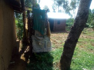 The Water Project:  A Bathroom Made Of Sacks Behind A Households Compound
