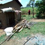 The Water Project: Shirugu Community, Jeremiah Mashele Spring -  Firewood Left To Dry Outside A Community Members House