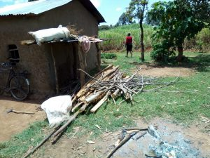 The Water Project:  Firewood Left To Dry Outside A Community Members House