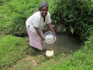 The Water Project:  Beryl Mavonga Fetching Water At The Spring