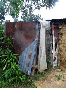 The Water Project:  Latrine With Metal Roof And Siding