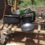 The Water Project: Ematetie Community, Weku Spring -  Pots And Pans Drying Rack