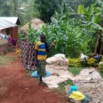 The Water Project: Asimuli Community, John Omusembi Spring -  Clothes Dry On House Line Bushes And Ground
