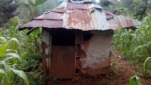 The Water Project:  Latrine Made Of Metal Siding And Roof