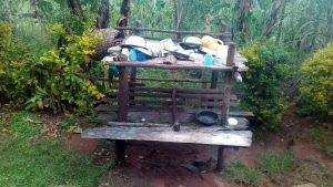 The Water Project:  Improvised Dishrack At A Homestead In The Community