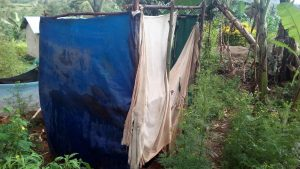 The Water Project:  Latrines Made Of Rugs And Old Cloths
