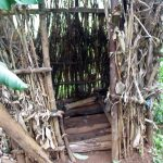 The Water Project: Chepnonochi Community -  A Latrine With Dry Maize Stalks Used To Construct Walls It Has No Door Neither Does It Have A Roof