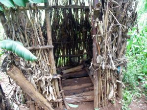 The Water Project:  A Latrine With Dry Maize Stalks Used To Construct Walls It Has No Door Neither Does It Have A Roof