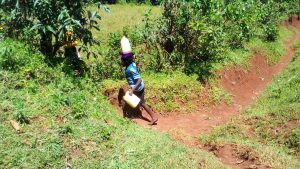 The Water Project:  Children Bringing Water Home