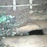 The Water Project: Upper Visiru Community, Wambosani Spring -  Latrine Floor