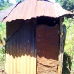 The Water Project: Upper Visiru Community, Wambosani Spring -  Latrine With Metal Walls And Roof