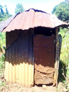 The Water Project:  Latrine With Metal Walls And Roof