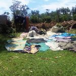 The Water Project: Masera Community, Murumba Spring -  Cloths Left To Dry On The Ground