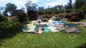 The Water Project:  Cloths Left To Dry On The Ground