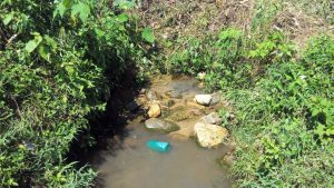 The Water Project:  Unprotected Visenda Water Source