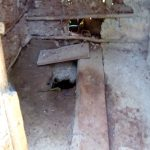The Water Project: Irumbi Community A -  Poor Condition Of Latrine Floor