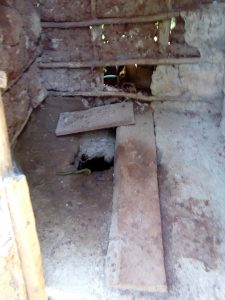 The Water Project:  Poor Condition Of Latrine Floor