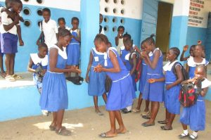 The Water Project:  Student Outside Class Room