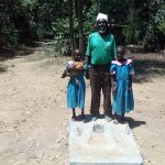 The Water Project: Maganyi Community, Bebei Spring -  Sanitation Platform