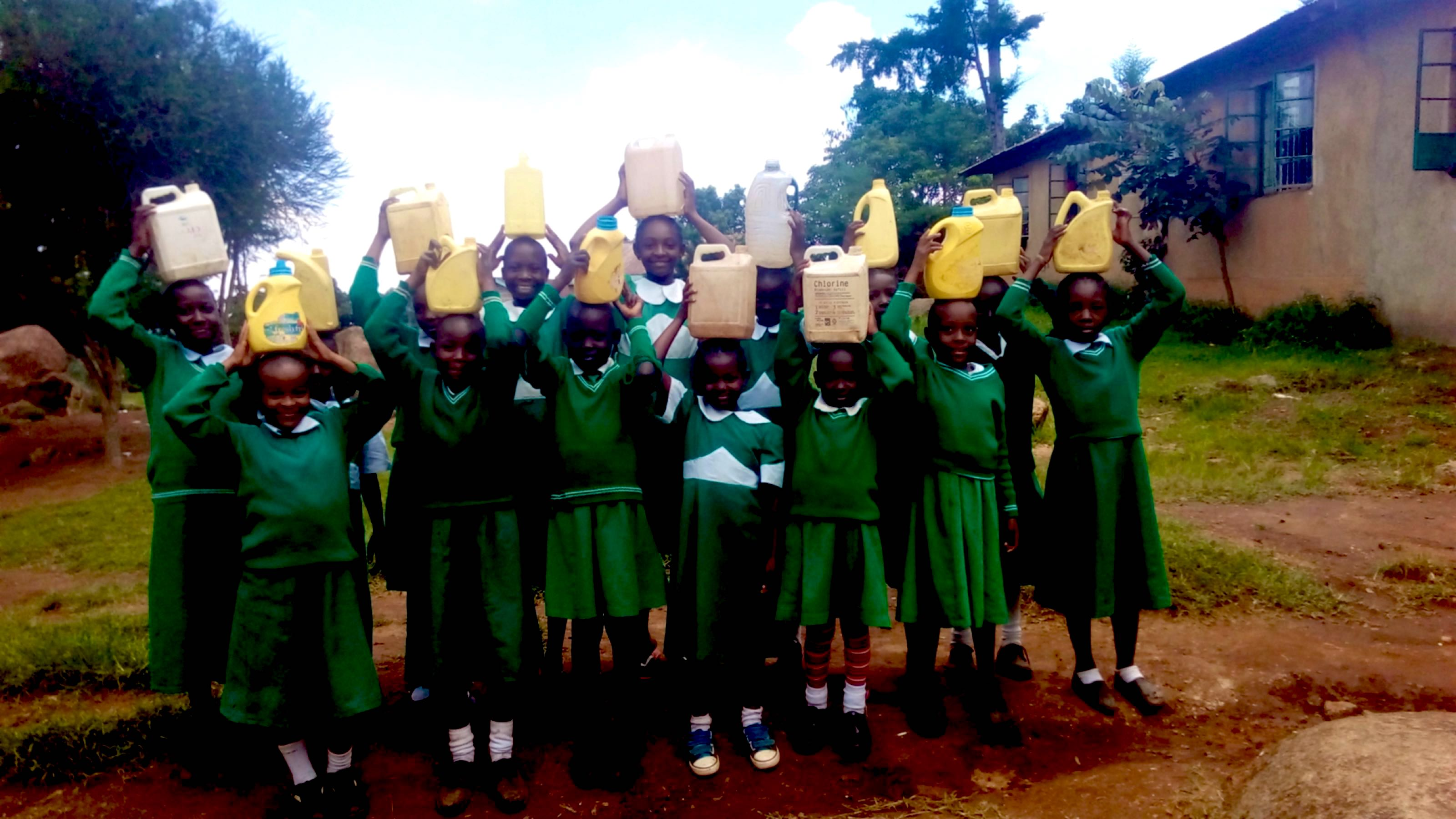 The Water Project : 13-kenya18027-carrying-water