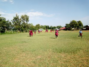 The Water Project:  Rush To Use The Latrines