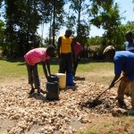 The Water Project: Bushili Secondary School -  Tank Foundation