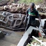 The Water Project: Lwenya Community, Warosi Spring -  Spring Protection Construction