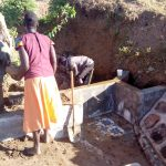 The Water Project: Musango Community, Ham Mwenje Spring -  Spring Construction
