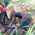 The Water Project: Sharambatsa Community A -  Spring Excavation