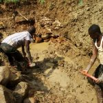 The Water Project: Ivulugulu Community, Ishangwela Spring -  Excavation