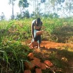 The Water Project: Sharambatsa Community, Mihako Spring -  Carrying Bricks To The Site