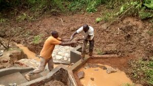 The Water Project:  Filling In The Spring Box