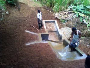 The Water Project:  Rinsing The Steps Down To The Spring