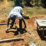 The Water Project: Sharambatsa Community, Mihako Spring -  Sanitation Platform Construction