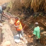 The Water Project: Esembe Community -  Spring Protection Construction