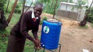 The Water Project:  Esther Kageha At The New Handwashing Station