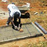 The Water Project: Sharambatsa Community A -  Sanitation Platfrom Construction