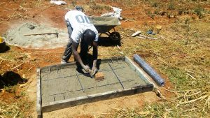 The Water Project:  Sanitation Platfrom Construction