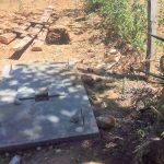 The Water Project: Sharambatsa Community A -  Sanitation Platform Construction